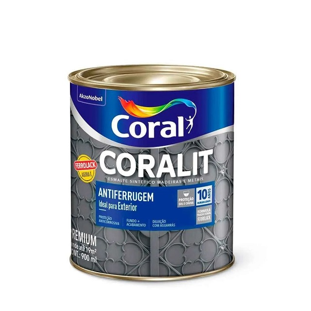 CORALIT ANTIFERRUGEM CINZA 900ML (FERROLACK) CORAL 5203036