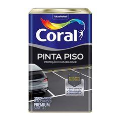 TINTA ACRÍLICA FOSCA CINZA ESCURO 18,0L PINTA PISO CORAL 5202461
