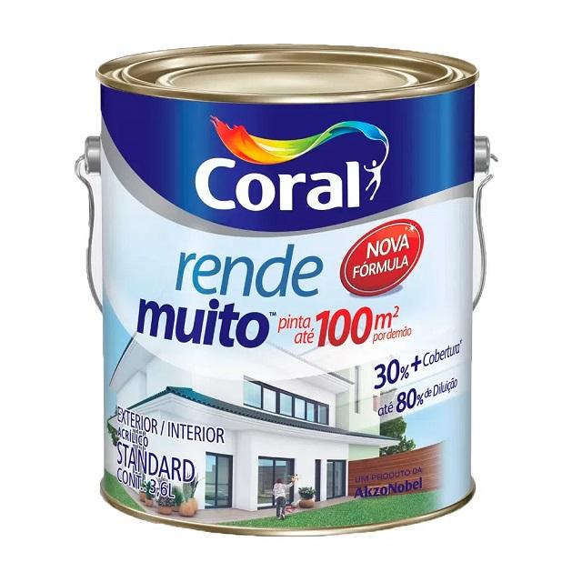 TINTA ACRÍLICA FOSCA VANILLA 3,6L RENDE MUITO CORAL 5202188
