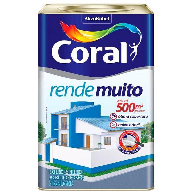 TINTA ACRÍLICA FOSCA BRANCO NEVE 18L RENDE MUITO CORAL 5202145