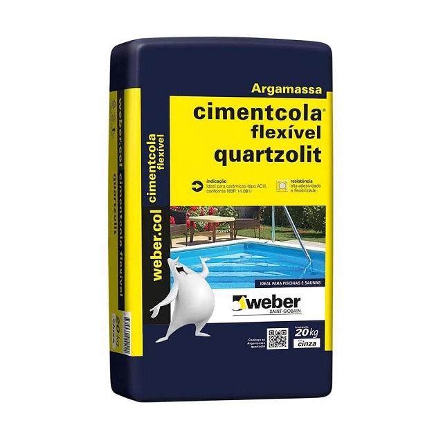 ARGAMASSA AC-III FLEXIVEL CIMENTCOLA 20KG QUARTZOLIT