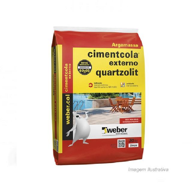 ARGAMASSA AC-II CIMENTCOLA  EXTER.20KG QUARTZOLIT