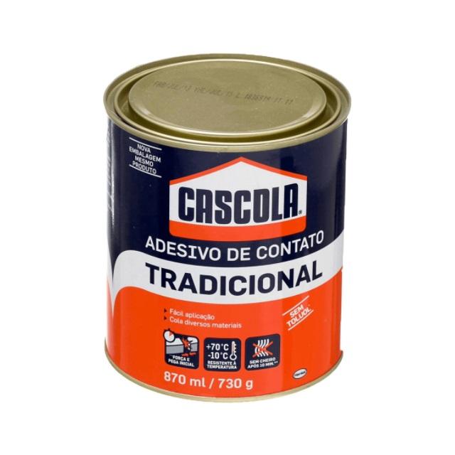 ADESIVO CONTATO TRADICIONAL SEM TOLUOL 870ML/730G CASCOLA - HENKEL