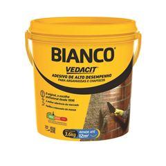 ADESIVO BIANCO 3,6KG PARA ARGAMASSAS E CHAPISCOS ALTO DESEMPENHO VEDACIT