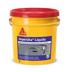 ADITIVO IMPERSIKA 18L IMPERMEABILIZANTE E PLASTIFICANTE PARA REBOCOS E ARGAMASSAS SIKA