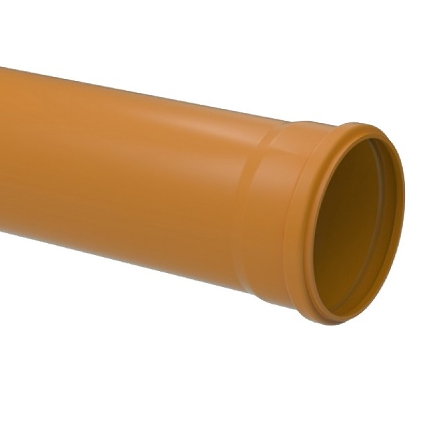 TUBO COLETOR ESGOTO LISO JEI PVC OCRE 6M 200MM TIGRE