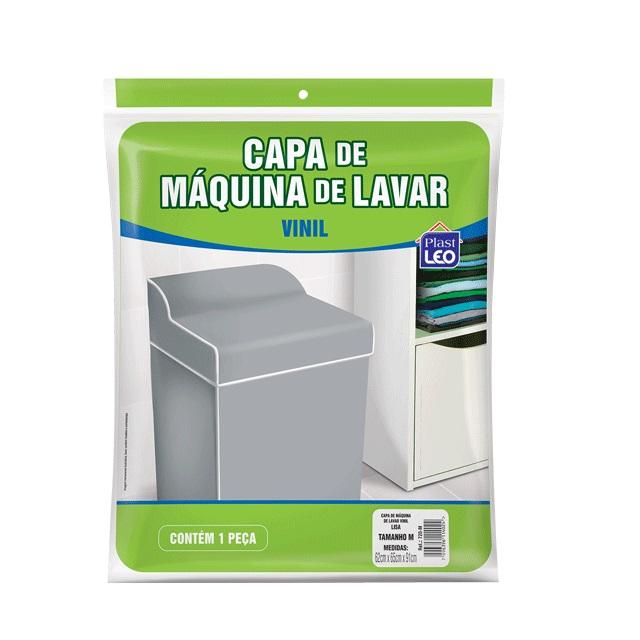 CAPA PARA MÁQUINA DE LAVAR EM VINIL LISA TAM.P 57X63X91CM REF.720/P PLAST LEO