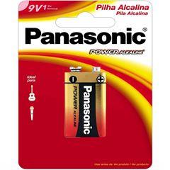 PILHA 9V POWER ALKALINE (C/1) PANASONIC