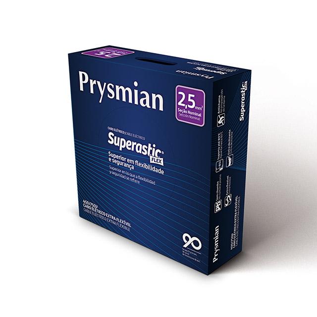 CABO ECOFLEX  2,5MM2 VERMELHO PC100  PRYSMIAN 750V