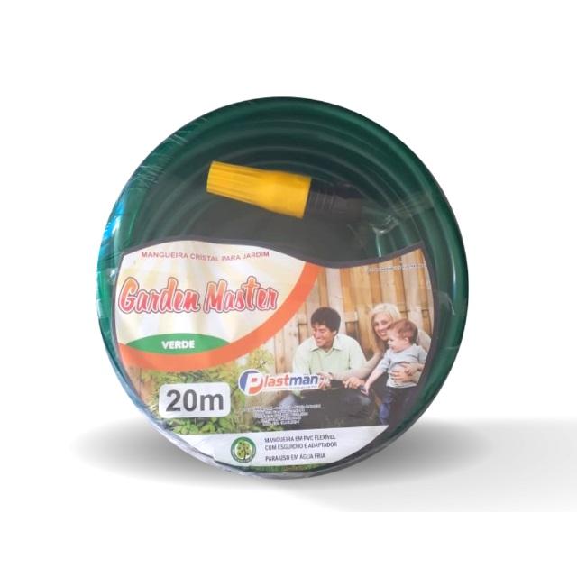 MANGEIRA PVC PARA JARDIM PEÇA COM 20 METROS GARDEN MASTER VERDE 8192 PLASTMAN