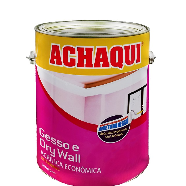 TINTA ACÍLICA PARA GESSO ACHAQUI BRANCO NEVE 3,6L