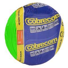 CABO 1,5MM² 750V FLEXICOM PEÇA COM 100 METROS VERDE COBRECOM