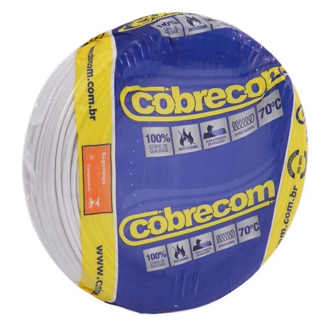 CABO 2,5MM² 750V FLEXICOM PEÇA COM 100 METROS BRANCO COBRECOM