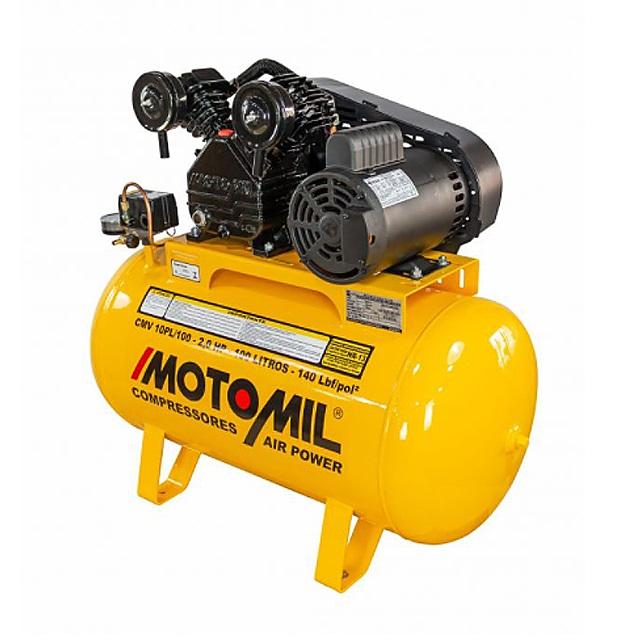 COMPRESSOR 2HP 220V 255 LITROS/MINUTO 100 LITROS 140 LBF/POL² CMV-10PL/100 21701.7 MOTOMIL