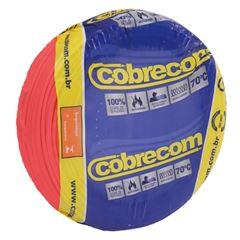 CABO 1,5MM² 750V FLEXICOM PEÇA COM 50 METROS VERMELHO COBRECOM