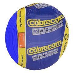 CABO 2,5MM² 750V FLEXICOM PEÇA COM 50 METROS AZUL COBRECOM
