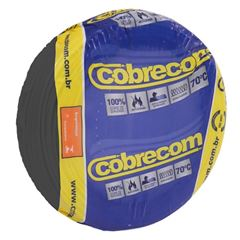CABO 2,5MM² 750V FLEXICOM PEÇA COM 50 METROS PRETO COBRECOM