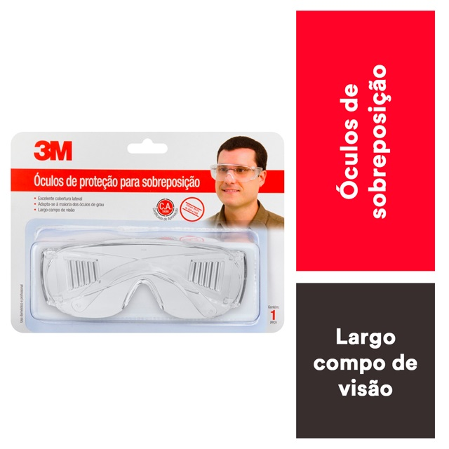 ÓCULOS PROTEÇÃO VISON 2000 INCOLOR 3M
