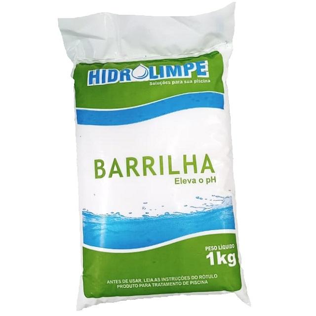 BARRILHA LEVE ELEVADOR DE PH PARA PISCINA 1KG HIDROLIMPE