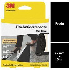 FITA ANTIDERRAPANTE USO GERAL 50MMX5M PRETA (ROLO) 3M SAFETY-WALK