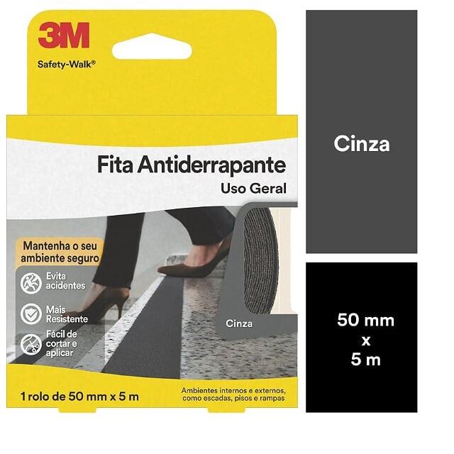 FITA ANTIDERRAPANTE CINZA SAFETY-WALK 50MMX25M 3M