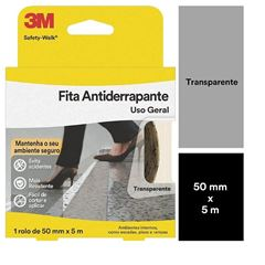 FITA ANTIDERRAPANTE USO GERAL 50MMX5M TRANSPARENTE (ROLO) 3M SAFETY-WALK
