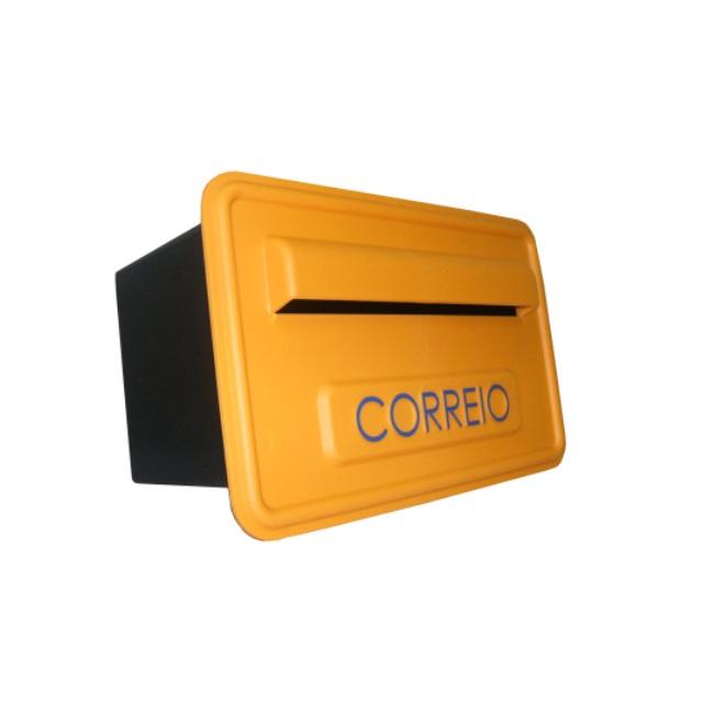 CAIXA DE CORREIO SIGMA PVC LARGURA 260MM PROFUNDIDADE 160MM ALTURA 160MM AMARELA 682 PINT SILK