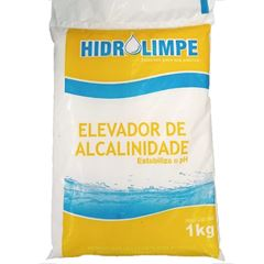 ELEVADOR DE ALCALINIDADE E ESTABILIZADOR DE PH PARA PISCINA 1KG HIDROLIMPE