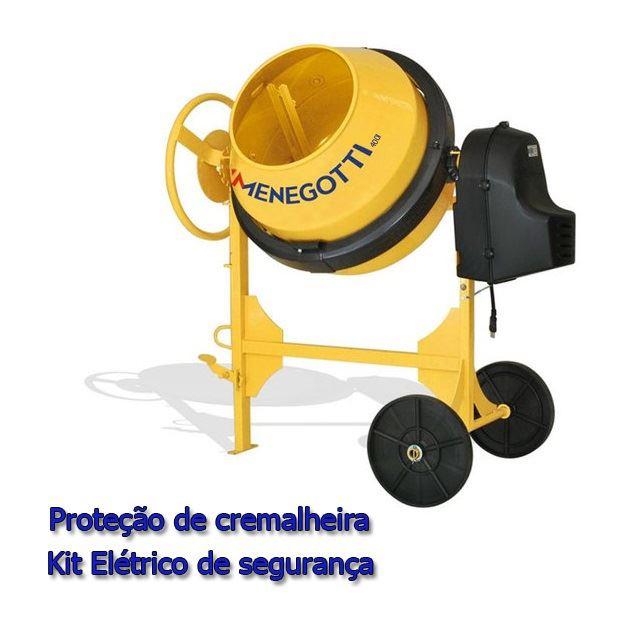 BETONEIRA 400L PRIME 2CV 380V COM PROTEÇÃO DE CREMALHEIRA E KIT ELÉTRICO DE SEGURANÇA 40011197 MENEGOTTI