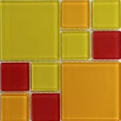 PASTILHA DE VIDRO MONDRIAN GLASS 2,2 X 2,2 CM E  4,7 X 4,7 CM TELA 30X30 CM SOLAR POINTER