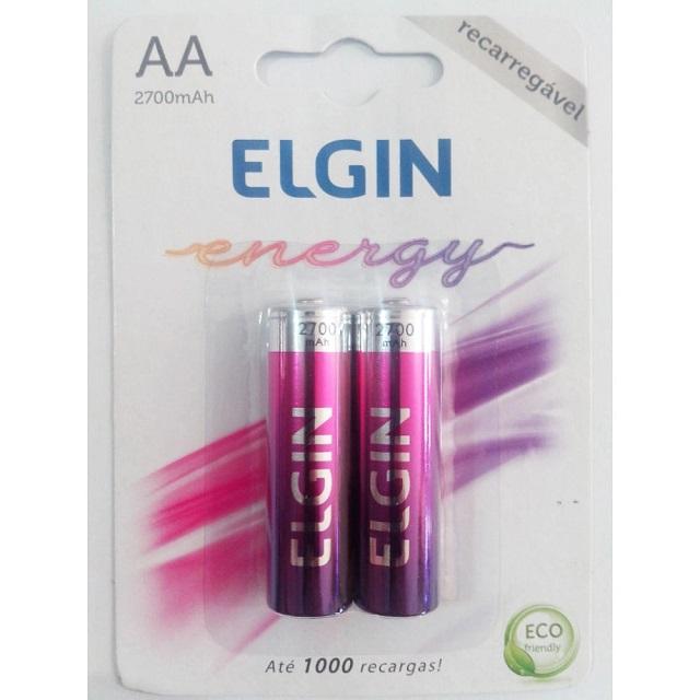 PILHA PEQUENA RECARREGÁVEL AA ENERGY (C/2) ELGIN