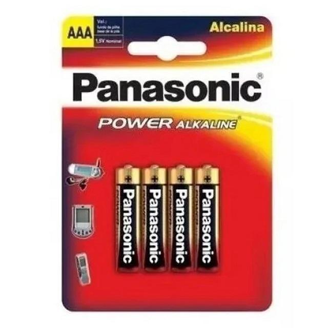 PILHA PALITO AAA POWER ALKALINE (C/4) PANASONIC