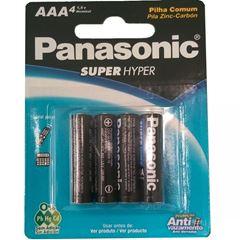 PILHA PALITO AAA SUPER HYPER (C/4) PANASONIC