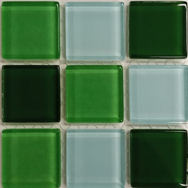 PASTILHA DE VIDRO TOP GLASS MOSAIC 2,4 X 2,4 CM TELA 30X30 CM FLORESTA POINTER