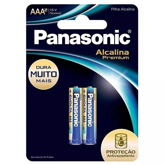 PILHA PALITO AAA ALCALINA PREMIUM (C/2) PANASONIC