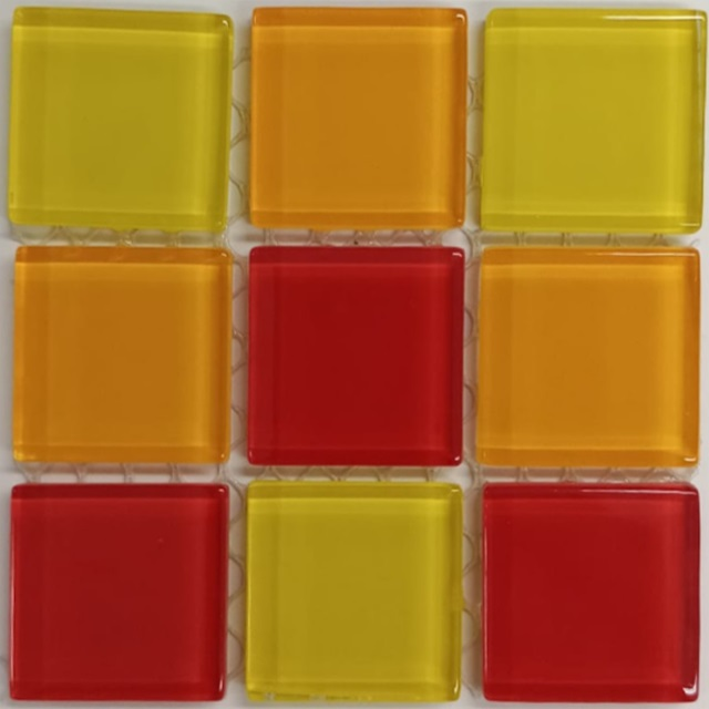 PASTILHA DE VIDRO TOP GLASS MOSAIC 2,4 X 2,4 CM TELA 30X30 CM SOLAR POINTER