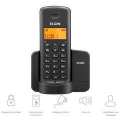 TELEFONE SEM FIO 1.9GHZ(ID.CHAM)TSF-8001 PT ELGIN