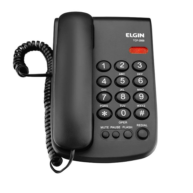 TELEFONE COM CHAVE TCF-2000 PT ELGIN