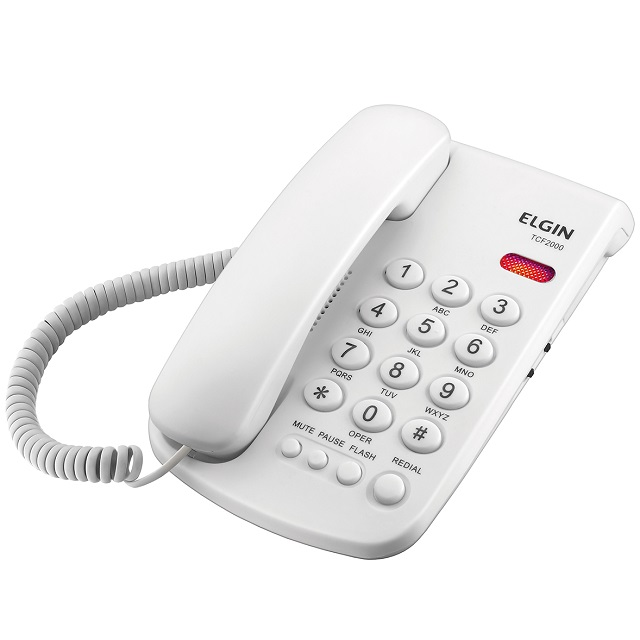 TELEFONE COM CHAVE TCF-2000 BR ELGIN
