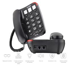 TELEFONE COM CHAVE TCF-2300 PT ELGIN
