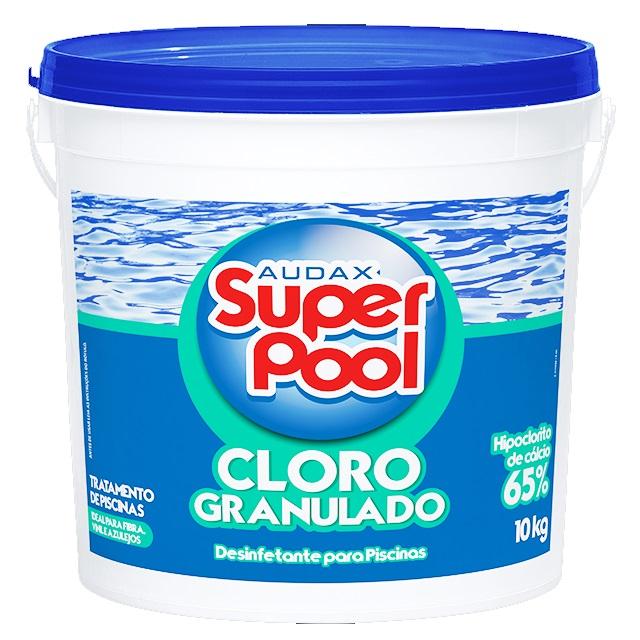 CLORO GRANULADO PARA PISCINA SUPER POOL 10KG AUDAX