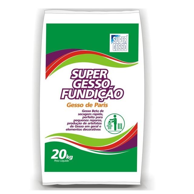 GESSO FUNDIÇÃO (GESSO DE PARIS) 20KG SUPERGESSO