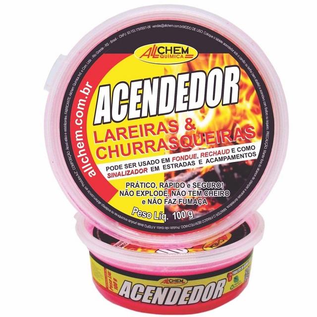 ACENDEDOR DE LAREIRAS E CHURRASQUEIRAS EM TABLETES 100GR(8778) ALLCHEM