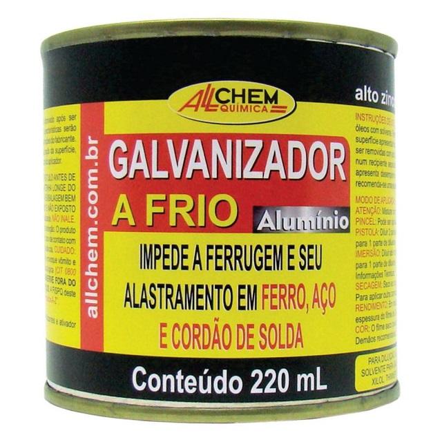 GALVANIZADOR A FRIO CINZA FOSCO 220ML(3346) ALLCHEM