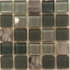 PASTILHA DE VIDRO TOP STONE GLASS 1,5 X 1,5 CM TELA 30X30 CM CONCRETO POINTER