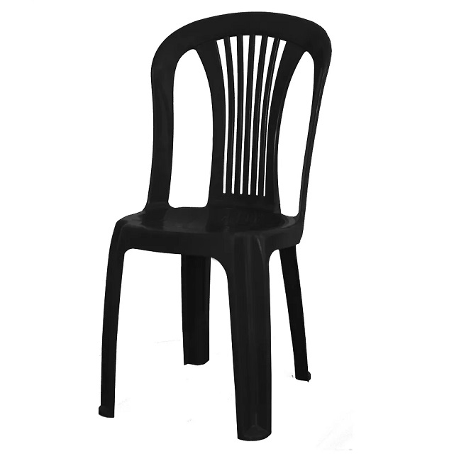 CADEIRA PVC BISTRÔ PRETA F850001 GARDEN LIFE