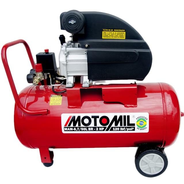 MOTOCOMPRESSOR 2HP 220V 246 LITROS/MINUTO 50 LITROS 120 LBF/POL² MAM-8,7/50BR 378962 MOTOMIL