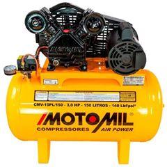 COMPRESSOR 3HP 220V 425 LITROS/MINUTO 150 LITROS 140LBF/POL² CMV 15PL/150 37825.7 MOTOMIL