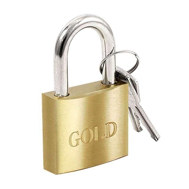 CADEADO LATÃO 25MM  GOLD