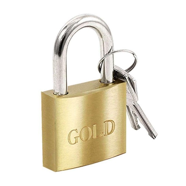CADEADO LATÃO 35MM  GOLD